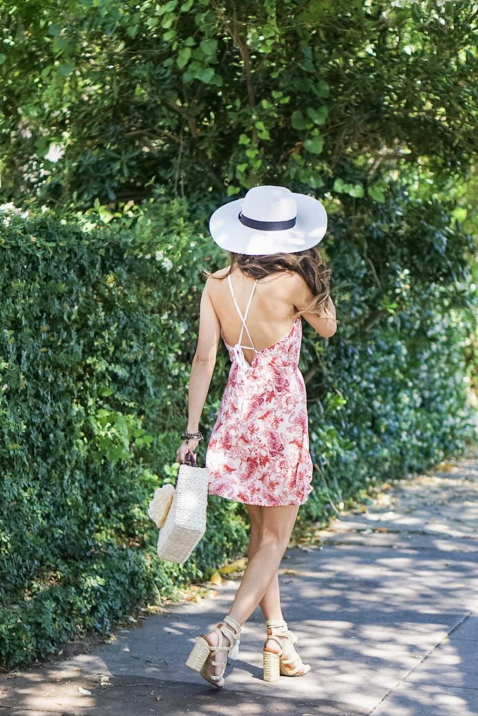 ONE-SHOULDER GINGHAM RUFFLE BLOUSE, white shorts, marc fisher wedges, quay sunglasses, charming charlie, austin earring