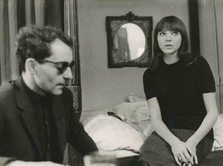 Jean-Luc Godard and Anna Karina, ca 1965.  Giancarlo Botti (b.1931).