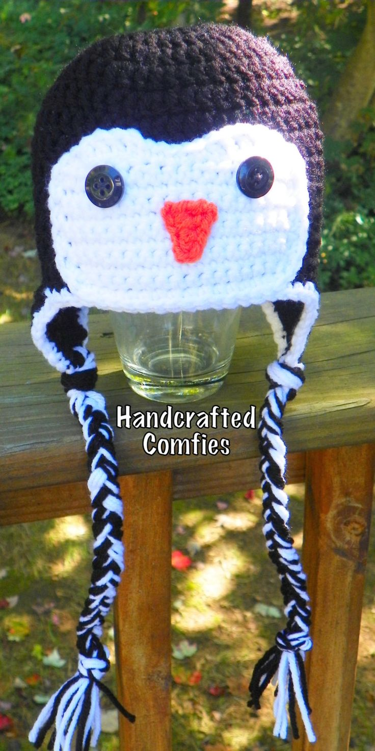 Penguin Hat - Infant Size - pinned by pin4etsy.com