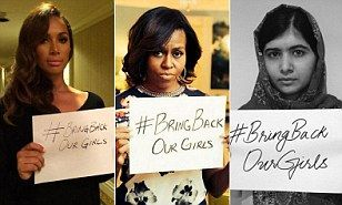 Celebrities around the world have voiced their outrage over the abduction of 276 schoolgirls in Nigeria last month, flooding social media with posts using the hashtag: #BringBackOurGirls.