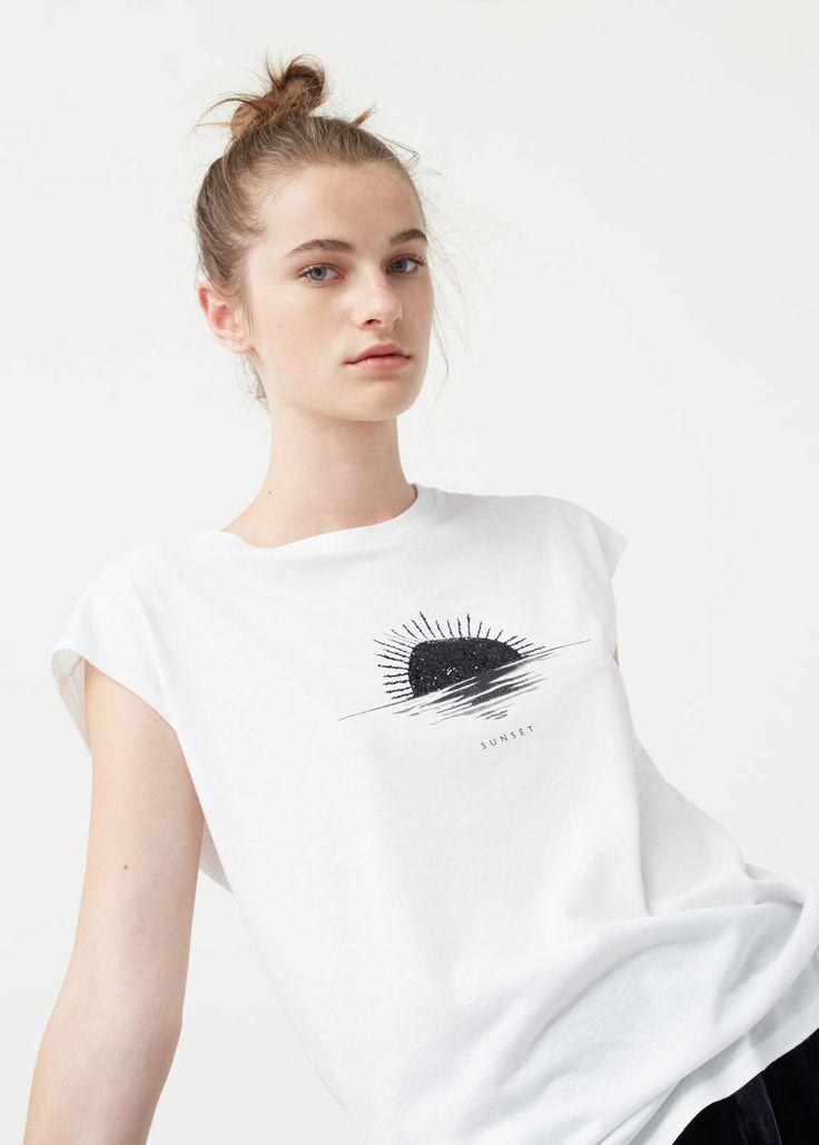 13€ Camiseta algodón modal - Camisetas de Mujer | MANGO España