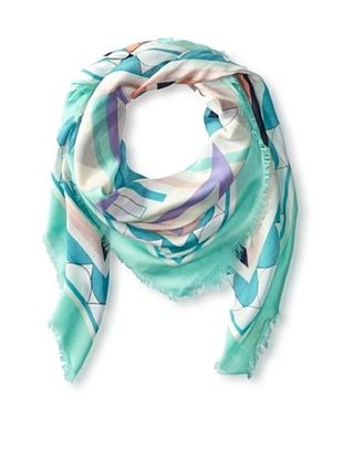 56% OFF Kenneth Jay Lane Women's Deco Scarf, Teal Multi