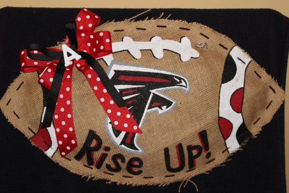 Atlanta Falcons Burlap Football by CreativeDelirium on Etsy, $30.00