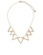Moving Triangles Statement Necklace