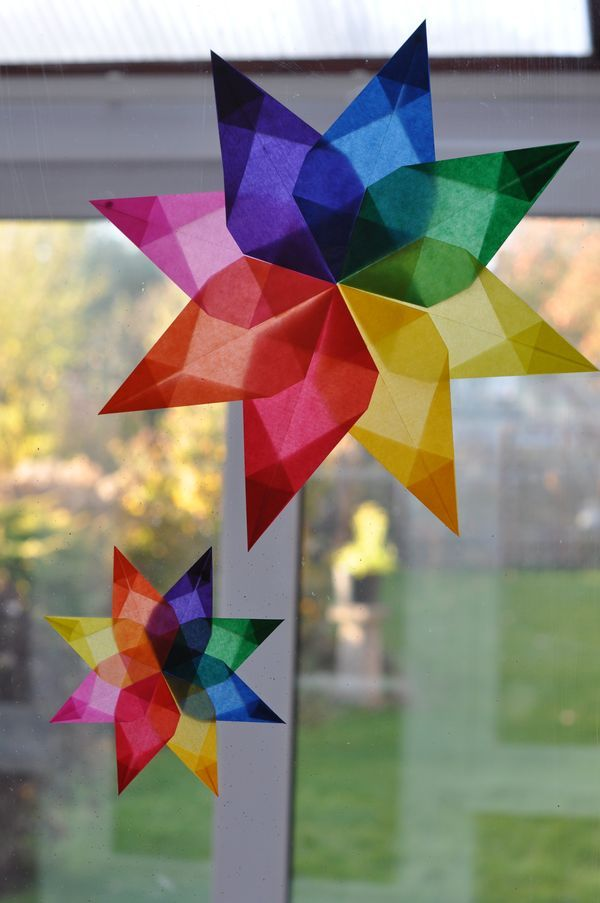 Color wheel using kite paper (UK) - hmmm... what else can be used - LOVE this idea