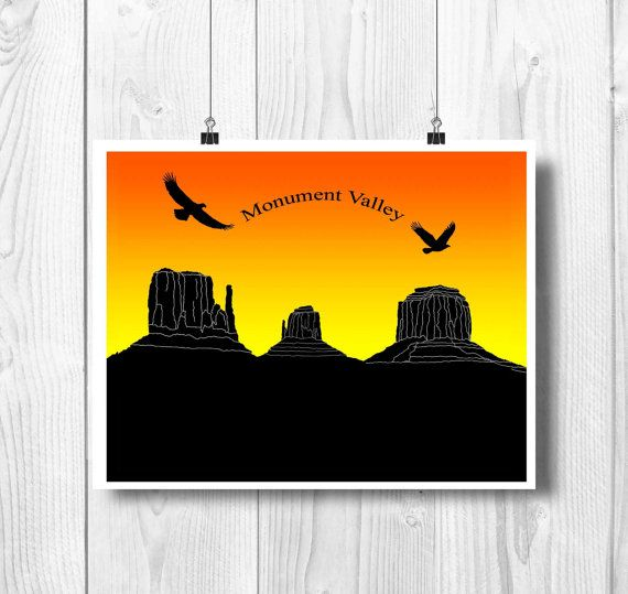 Monument Valley skyline Monument Valley art West by PrintCorner https://www.etsy.com/listing/205753156/monument-valley-skyline-monument-valley?ref=shop_home_active_6
