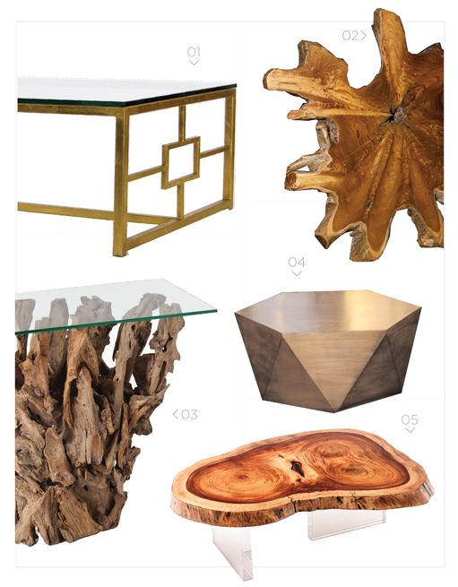 Coffee tables.