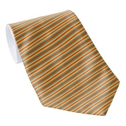 Red Green and Yellow Striped Tie - diy cyo personalize design idea new special custom