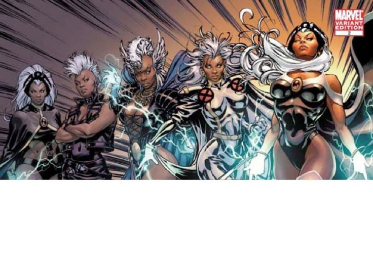 Ororo Munroe has had a variety of different Storm Costumes. See the Storm costume history as she fights along with the X-Men.