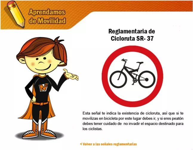 Señales reglamentarias 5 - Secretaria Distrital de Movilidad
