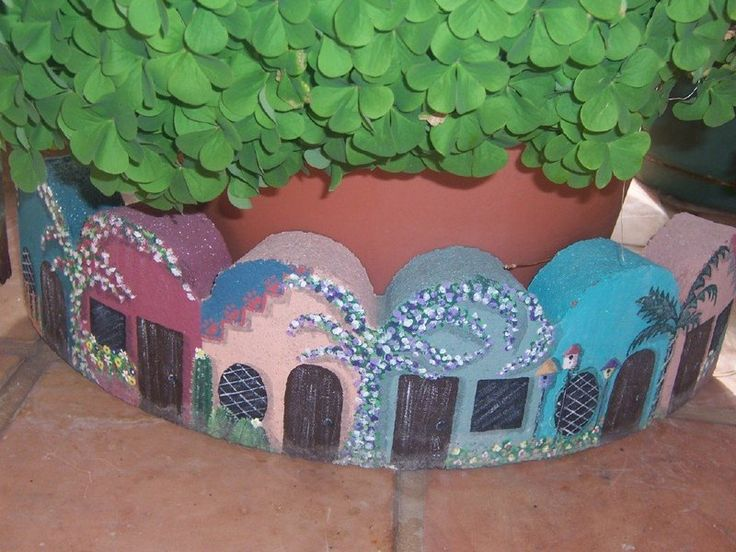 Garden Art forum: Painted Bricks, Tree-rings and Cement (All Things Plants)