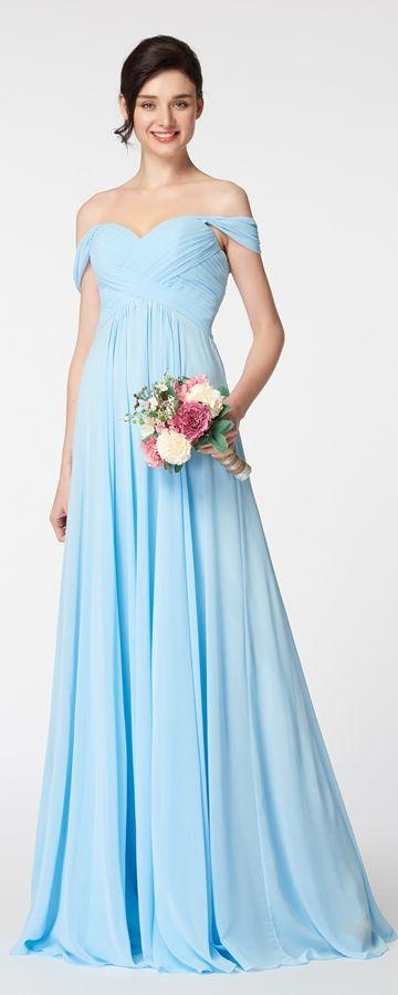 Best 25 light blue bridesmaid dresses ideas on pinterest for Over the shoulder wedding dress