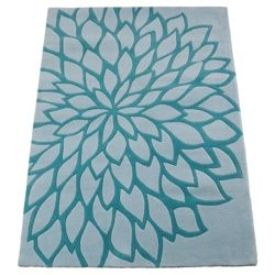 love this! Large Flower Rug, Teal 120x170cm from Tesco direct