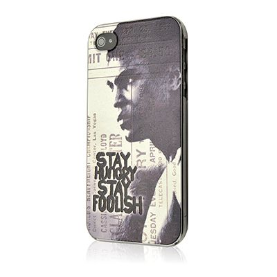 Cover per iPhone 5 e 5s Muhammad Alì con logo Stay Hungry Stay Foolish