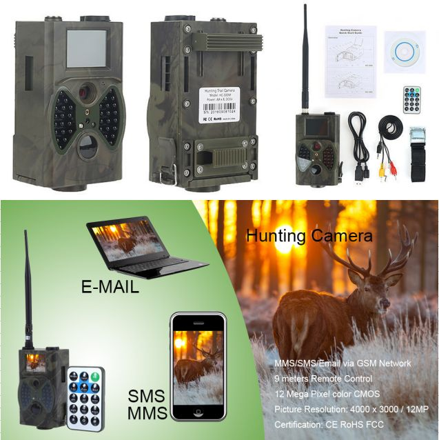 940nm Hunt Photo Traps Angle Wild Camera Traps for Hunting Trap Trail Cameras MMS Digital Hunting Camera Gsm mms gprs HC300M