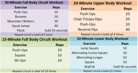 lots of workouts, long list of treadmill workouts