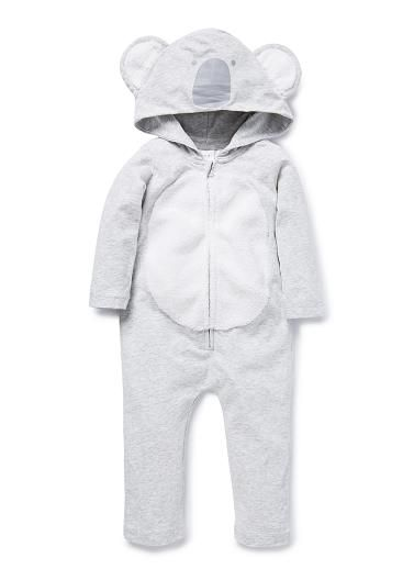9a96f937c 95% Cotton / 5% Elastane long sleeve novelty koala jumpsuit. Features zip  up centre front and koala face hood with ears. | Products I Love | Newborn  outfits ...