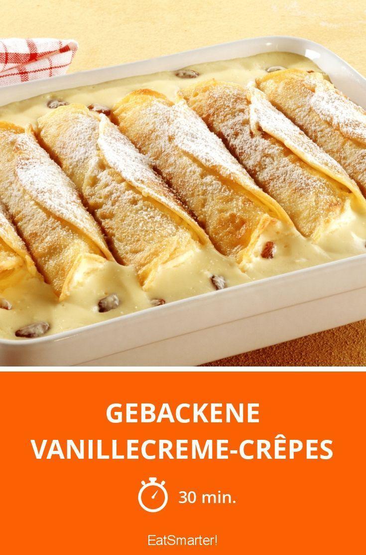 Gebackene Vanillecreme-Crêpes - smarter - Zeit: 30 Min. | eatsmarter.de