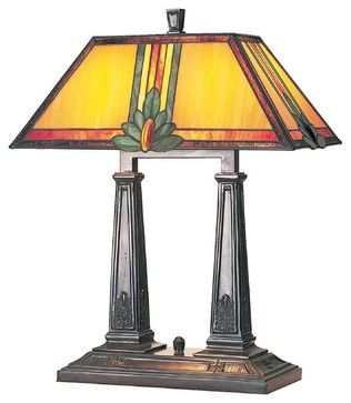 Lite Source, Inc. Maple Jewel Table Lamp, Gold craftsman-table-lamps