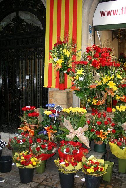 #Barcelona flower shop on #Sant Jordi by BCNinternet, via Flickr