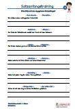 #Satzanfangstraining 4.Klasse #Franzoesisch Arbeitsanweisungen sind in den Lösungen in Französisch übersetzt. #Arbeitsblaetter / Übungen / Aufgaben für den #Rechtschreib- und Deutschunterricht - Grundschule.  Es handelt sich um 120 Sätze, die auf 10 Arbeitsblätter verteilt sind. Die Sätze sollen mit 2 verschiedenen Satzanfängen umgestellt und aufgeschrieben werden.