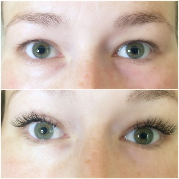 Før og efter single eyelash extentions