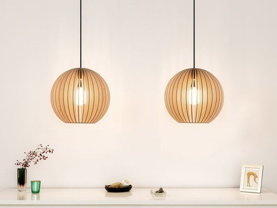 Simple AION wooden pendant light lampshades hanging light by IUMIDESIGN