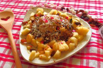 Bowlcake cannelle, coco, raisins secs