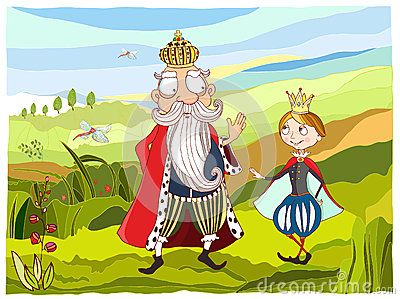 Illustration King and prince , vector EPS AI
