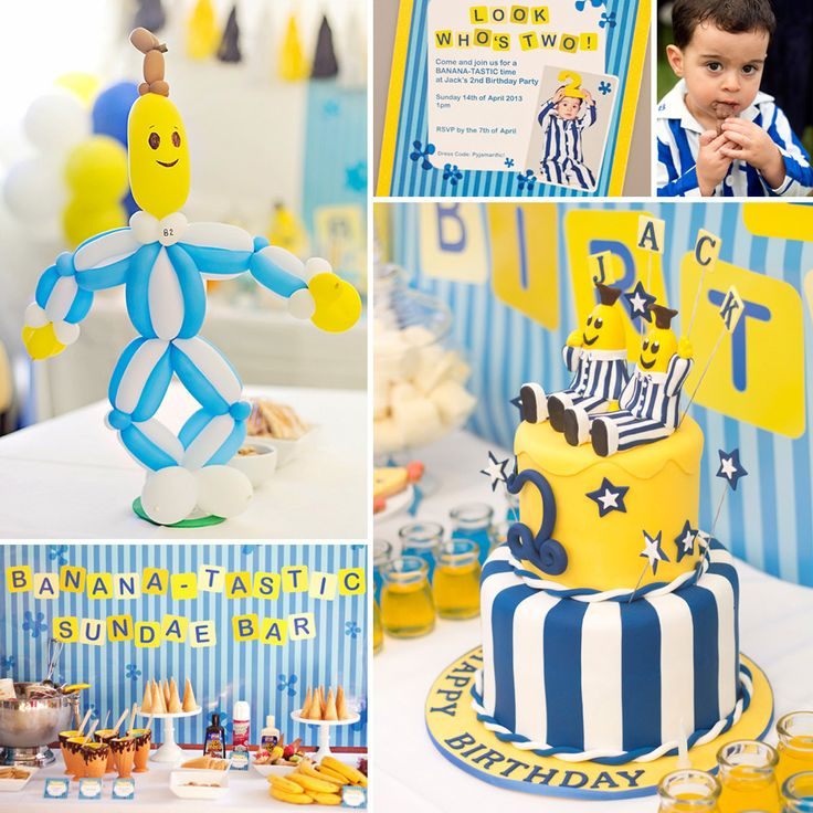 Amazing Bananas in Pajamas Party by Rock Paper Sugar Events with darling printables by Ham design and mind blowing balloon art by Zig Zag Balloons! http://hwtm.me/17QzBXt
