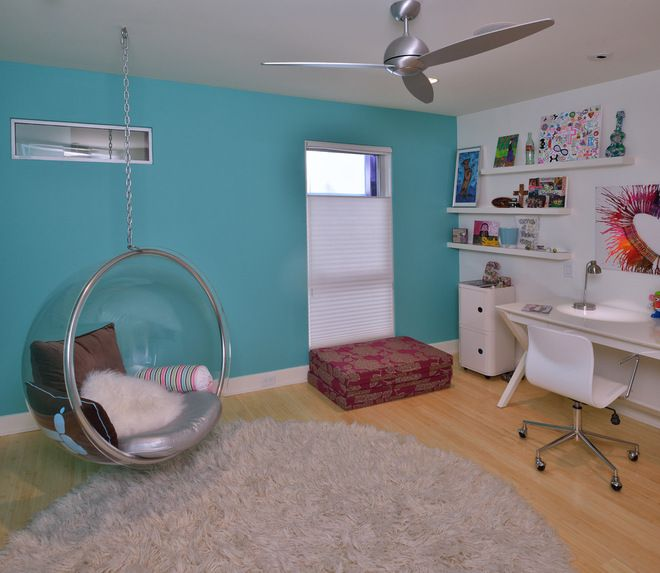 This bolder turquoise is a fun color for a teen s room  modern kids by RD. 17 Best images about Teen bedroom chairs for girls on Pinterest