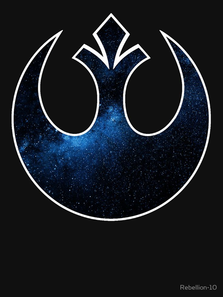 SELLING ON REDBUBBLE  The symbol of hope, the starbird of the rebel alliance from the star wars universe. A custom re-design of this infamous symbolin blue and with a galactic background. A true symbol of a rebel.
