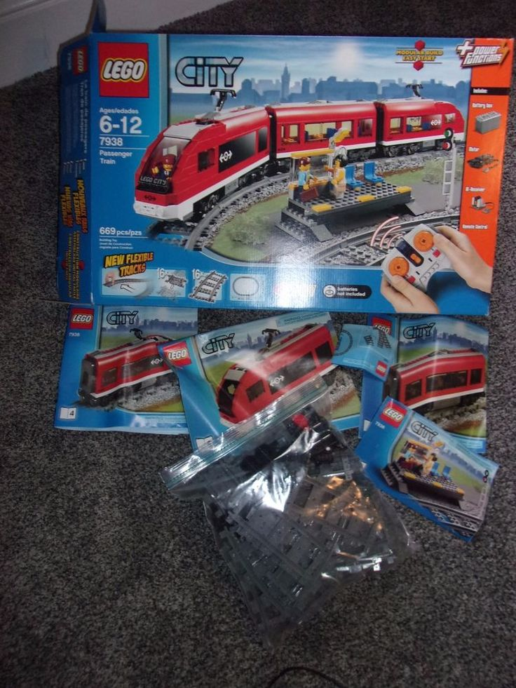 LEGO City Passenger Train 2010 (7938) Tracks Wheels Manuals Incomplete Loose Set #Lego