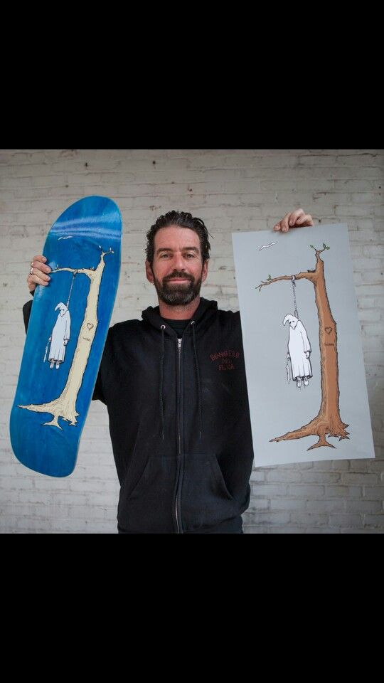 Real Skateboards Blue Og Shape Jim Thiebaud Klansman