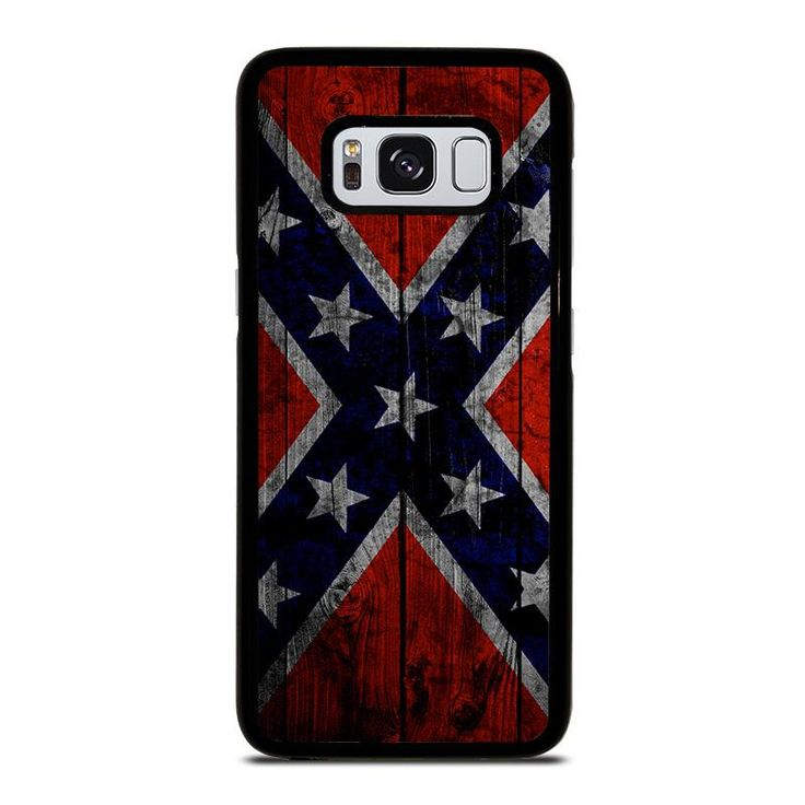 WOODEN REBEL FLAG Samsung Galaxy S4 S5 S6 S7 S8 S9 Edge Plus Note 3 4 5 8 Case Cover
