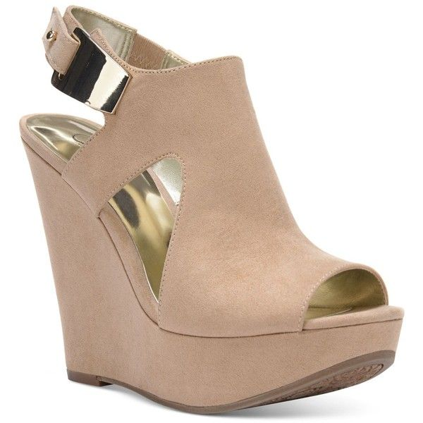 Carlos by Carlos Santana Malor Platform Wedge Sandals (500 VEF) ❤ liked on Polyvore featuring shoes, sandals, beige, high platform sandals, thick platform sandals, beige sandals, high platform shoes and carlos by carlos santana