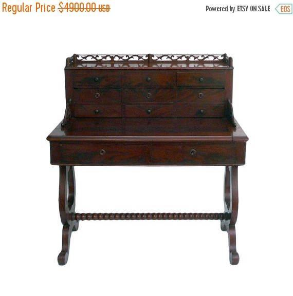 30%OFF SALE Antique European Writing Desk with Drawers and