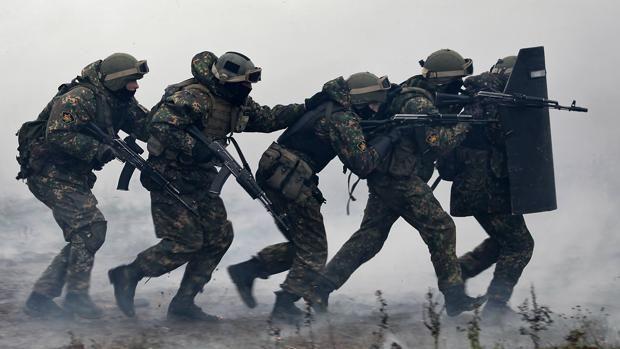 Centro de entrenamiento de las tropas especiales rusas subordinadas al Ministerio del Interior