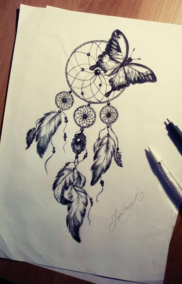 Pin von Elamaus auf malvorlage Traumfänger tattoo design