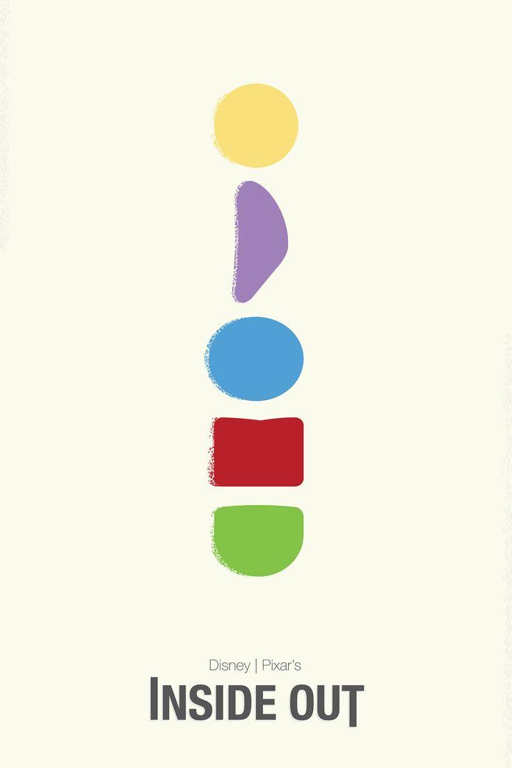 MINIMALISM Disney Pixar's Inside Out Move Poster
