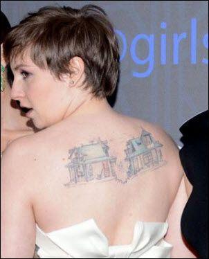 lena dunham tattoo