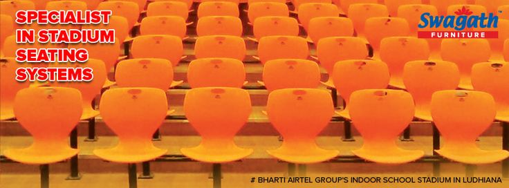 Swagath is growing nationwide and Bharti Airtel Group's Indoor School Stadium in Ludhiana is another example of its presence. Connect with us for all your #seating requirements at www.swagath.co !!