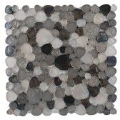 hammered silver pebble glass mosaic
