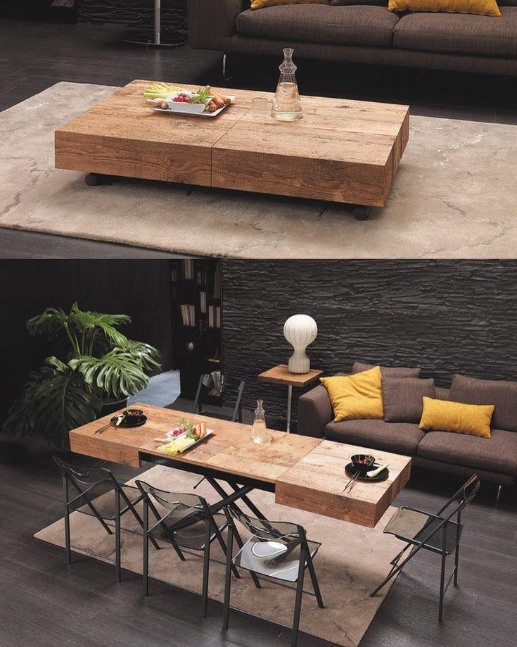 Mesa de centro e mesa de jantar. #multifuncional Via: @resourcefurniture Pinterest: http://ift.tt/1Yn40ab http://ift.tt/1oztIs0