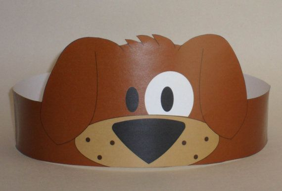 Puppy (Brown) Crown - Printable