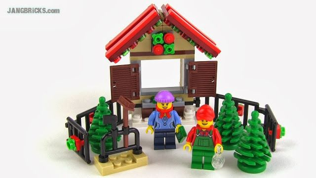 This is adorable!  A Christmas Tree Lot.  Its an exclusive gift for 2013 if you spend $99 or more thru the LEGO website.  Christmas Tree Stand, set #40082