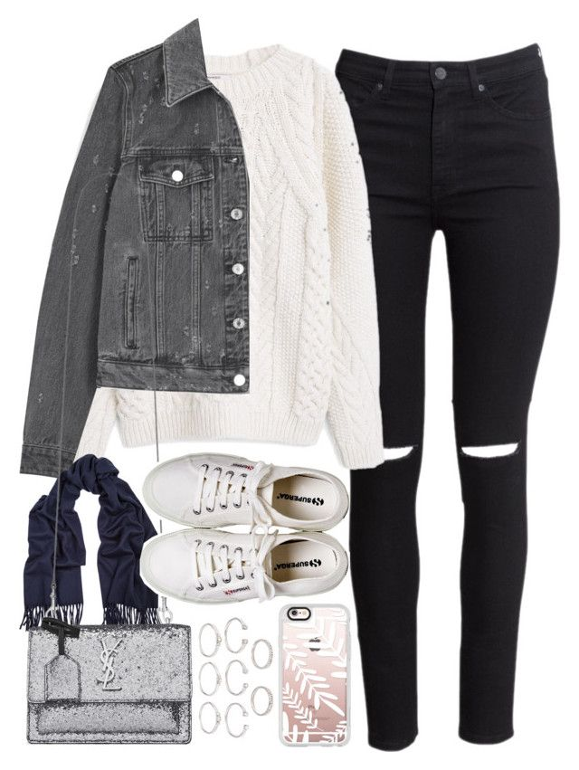 """Outfit for winter"" by ferned ❤ liked on Polyvore featuring H&M, MANGO, Givenchy, Acne Studios, Yves Saint Laurent, Henri Bendel, Forever 21 and Casetify"