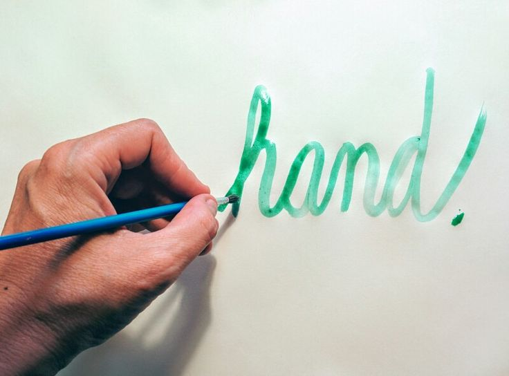 #hand#typography