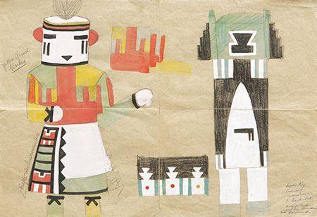 Sophie Taeuber-Arp, Entwurf für ein Kostüm (Nr. 60) (Design for a Costume, No…