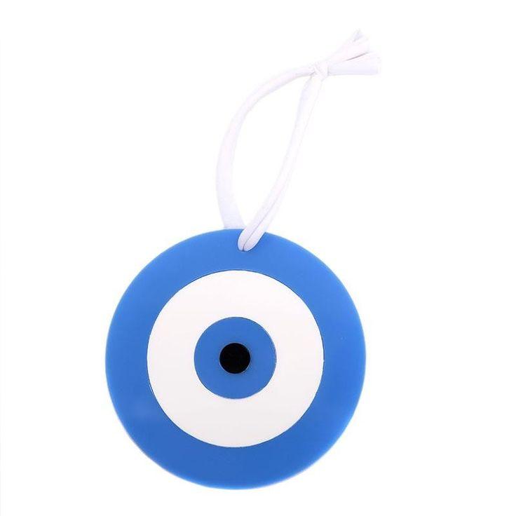 PLEXI GLASS DEVIL EYE IN LIGHT BLUE-WHITE COLOR D-10/21 - Pomegranate Charms - Crosses - DECORATIONS - inart